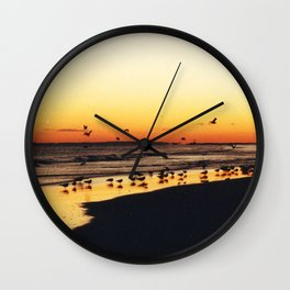 Pipers in Autumn Wall Clock
