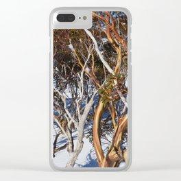 Snow Gums Clear iPhone Case