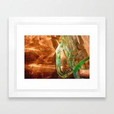spilled light Framed Art Print