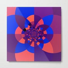 Kaleidoscope Purple Melon Cobalt Blue Metal Print