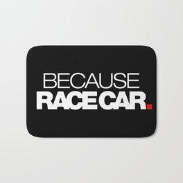 BECAUSE RACE CAR v2 HQvector Bath Mat