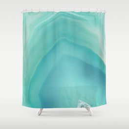 Geode Crystal Turquoise Shower Curtain