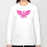 triforce Long Sleeve T-shirts featuring Contrast Triforce by Rebekhaart