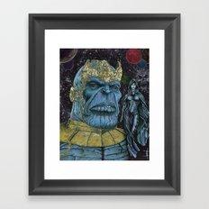 Thanos of Titan Framed Art Print