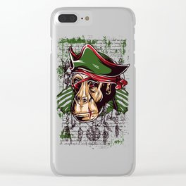 Pirate Monkey Clear iPhone Case