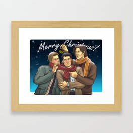 A Team Free Will Christmas Framed Art Print