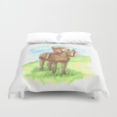 Horse Girl - Artwork that re-visits your favorite childhood memories Duvet Cover