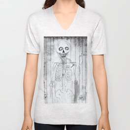 Skeleton Unisex V-Neck