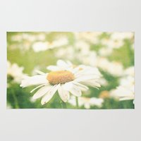 daisies Area & Throw Rugs featuring Daisies  by secretgardenphotography [Nicola]