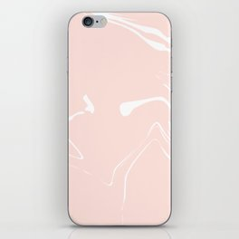 Pink With White Liquid Paint iPhone Skin