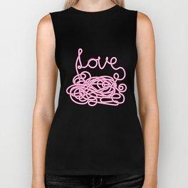 Love Spaghetti Biker Tank