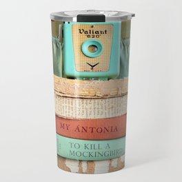 Vintage Suitcase - To Kill a Mockinbird / My Antonia Travel Mug