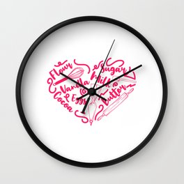 """Great Baking Design For Bakers T-shirt Design """"Chef"""" Fork Knife Cherry Icing Cake Dessert Buttons Wall Clock"""