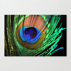 Neon Peacock Canvas Print
