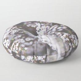 The Smallest White Flowers 01 Floor Pillow