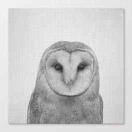 Owl - Black & White Canvas Print