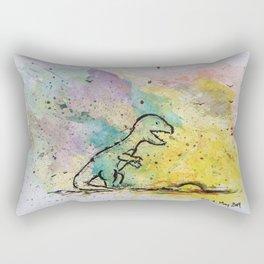 Dinosaur - 4, May 2014 - Tonight's Watercolor Rectangular Pillow