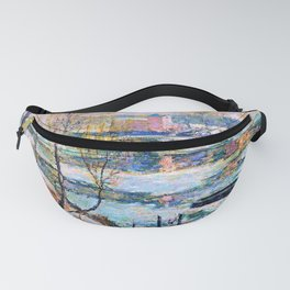 12,000pixel-500dpi - Ernest Lawson - Ice in the River - Digital Remastered Edition Fanny Pack