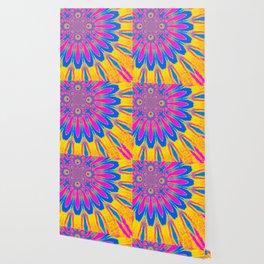 The Modern Flower Rainbow Wallpaper