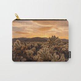 Cholla Cactus Garden, Joshua Tree National Park, Sunset Photography, Desert Life, California Home Decor, Landscape Wall Art  Carry-All Pouch