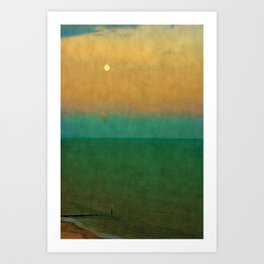 Sea ~ Moon Art Print