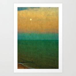 Sea ~ Moon Art Print