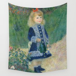 Girl with a Watering Can Wall Tapestry
