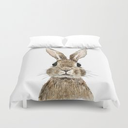 cute innocent rabbit Duvet Cover