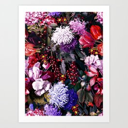 EXOTIC GARDEN - NIGHT XIX Art Print