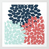 Dahlia Pillow Art Print