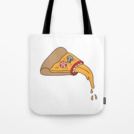 pizza puke Tote Bag