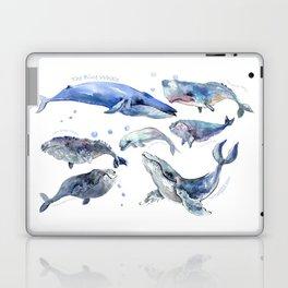 Whales, Whale design, whale wall art, sea, marine aquatic animal art, school learning wall Laptop & iPad Skin