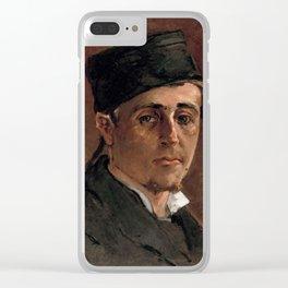 Paul Gauguin - Self-Portrait, Man in a Toque (1875-1877) Clear iPhone Case