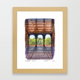 Bethesda Terrace Framed Art Print