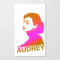 audrey Canvas Prints featuring Audrey by Bright Enough💡