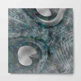 Abstract Peacock quill Digital Art Metal Print