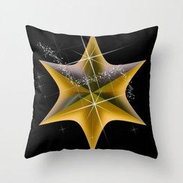 Gold Starlight Fashion Throw Pillow