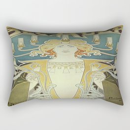 Vintage poster - Bec Auer Rectangular Pillow
