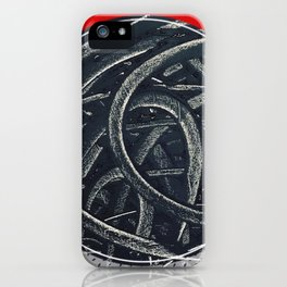Junction - red graphic iPhone Case