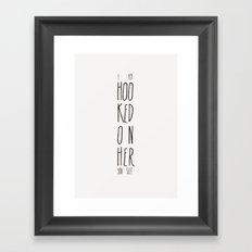 Hooked on her Framed Art Print