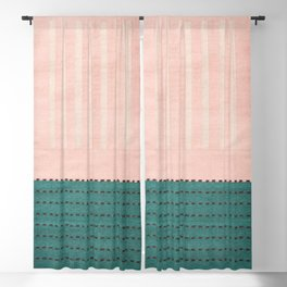 Anthropologie Traditional Moroccan Style Pink Texture (N28) Blackout Curtain