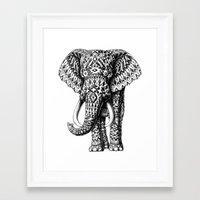 bioworkz Framed Art Prints featuring Navajo Elephant by BIOWORKZ
