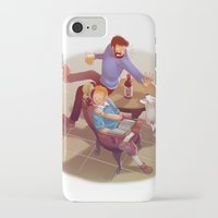 tintin iPhone & iPod Cases featuring Tintin and co. by magemg