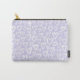 Pastel lavender hearts pattern Carry-All Pouch