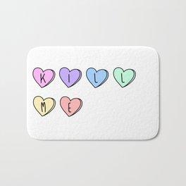 Kill Me Candy Hearts Bath Mat