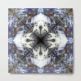Flow Fractal Metal Print