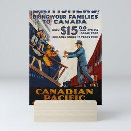 Nostalgie Canadian Pacific Steamships Mini Art Print