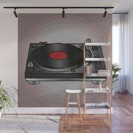 Vinyl record player Wall Mural