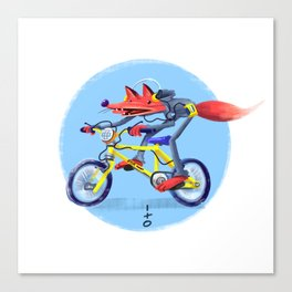 fox bike Canvas Print