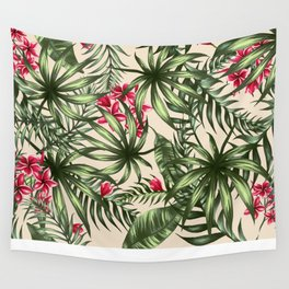 Tropical leave pattern 9.4 Wall Tapestry